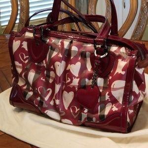 "Burberry heart satchel sz.l.14""×d7""×h.11"""